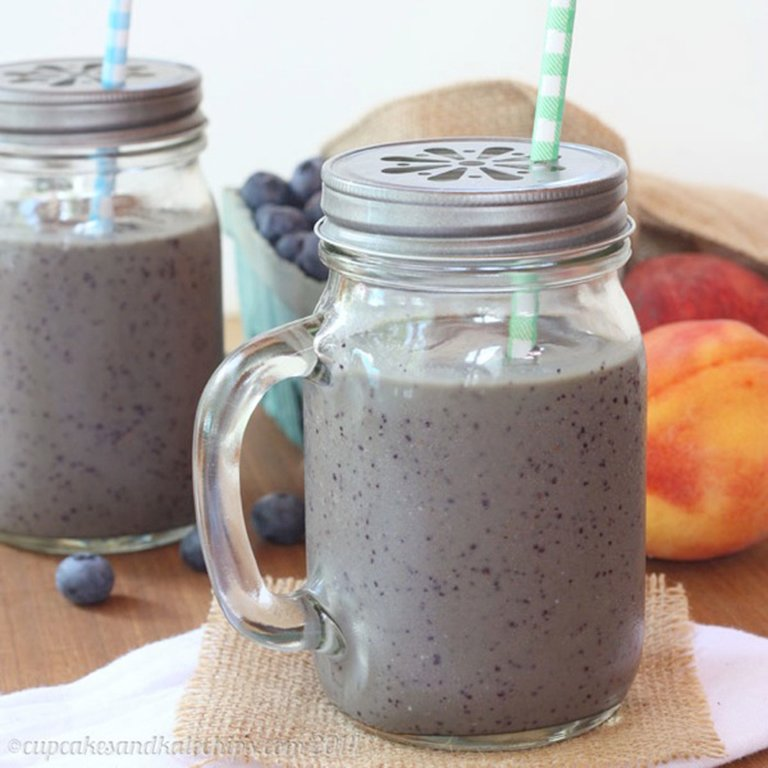 ... , Peaches and Cream Green Smoothie from Cupcakes and Kale Chips