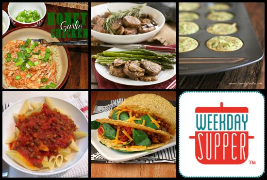 Weekday Supper Menu 1.27-1.31