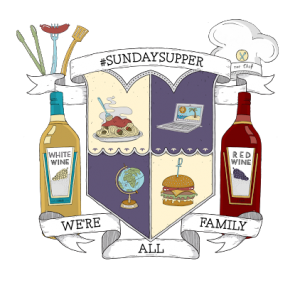 Sunday Supper Family Crest created by Gallo Crest Maker