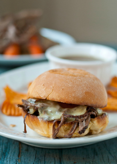 Slow Cooker Beef Brisket French Dip by Neighborfood