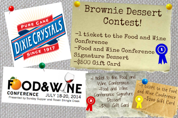Food and Wine Conference Brownie Recipe Contest