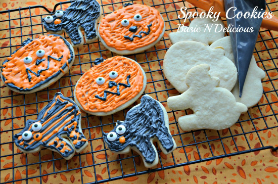 Spooky Cookies from Basic N Delicious