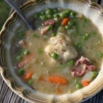 Humble Pea & Ham Soup with Fluffy Dumplings + 24 more #GREEN Pea recipes – think Spring!