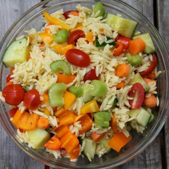 Stuffed Orzo Salad #WeekdaySupper