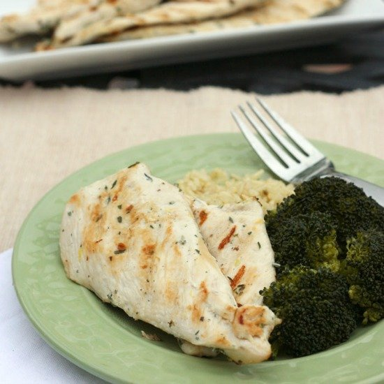 Lemon Herb Grilled Chicken Breasts from Cupcakes & Kale Chips