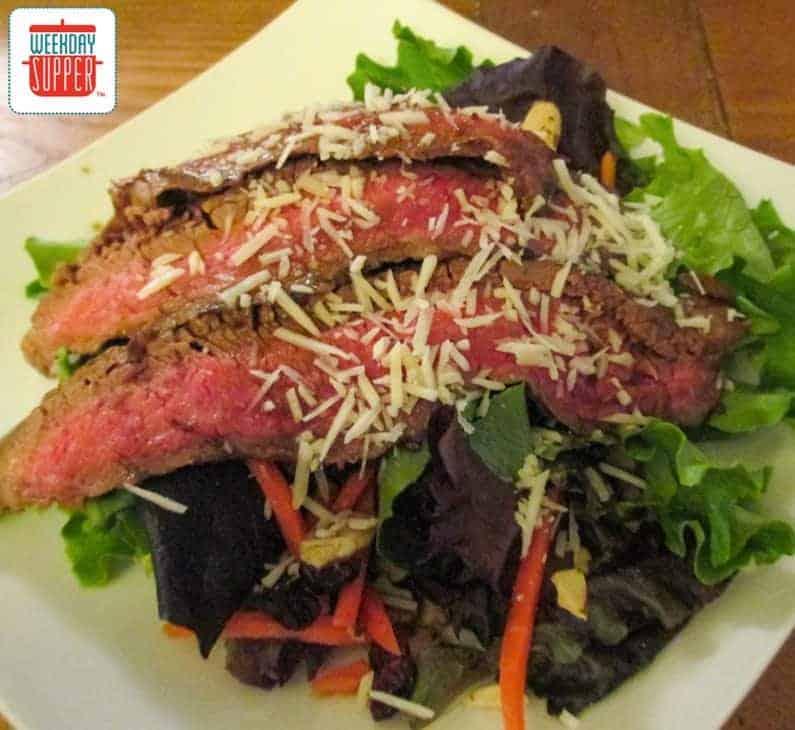 flank steak salad #WeekdaySupper