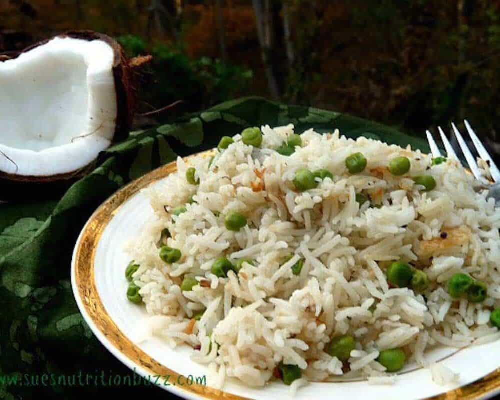 Sunday Supper recipes: Coconut Rice Pilaf #WeekdaySupper