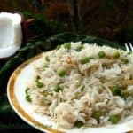 Coconut Rice Pilaf with Peas and Fresh Herbs #WeekdaySupper