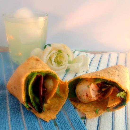 Farmer's Market Wrap w / Avocado Hummus