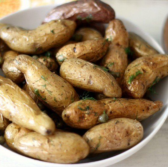 Roasted Fingerlings with Caper and Dill