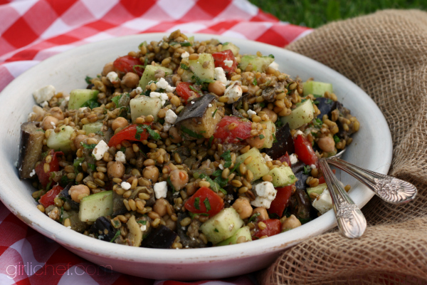Chickpea and Freekeh Salad #WeekdaySupper