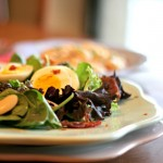 Northern Bean Salad with egg and prosciutto by family foodie