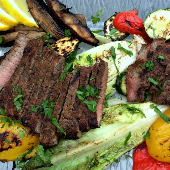 Grilled Salad with Skirt Steak