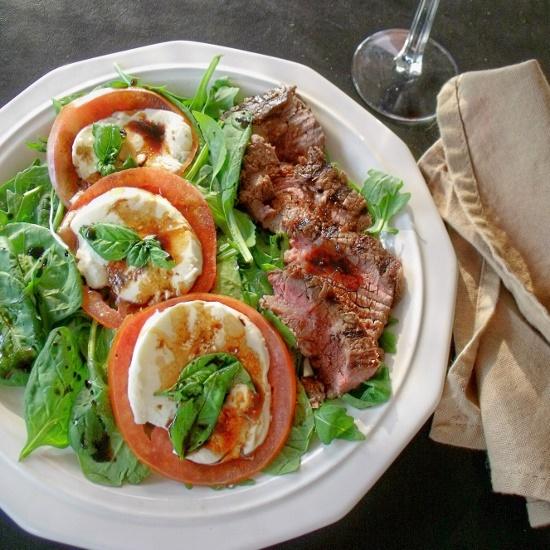 Steak Caprese Salad