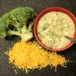 Broccoli Cheese Soup Redux for #WeekdaySupper