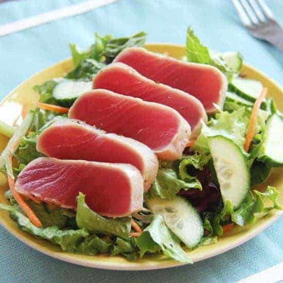 Seared tuna salad #WeekdaySupper