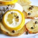 Lemon Herb Sole on Crispy Potato Rafts #WeekdaySupper