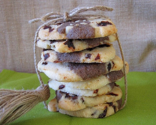 Chocolate Cherry-Almond Cookies in the Cookie Jar #SundaySupper