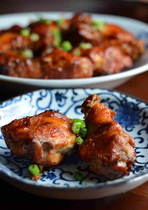 Korean-style Spicy Wings by kimchi MOM #SundaySupper