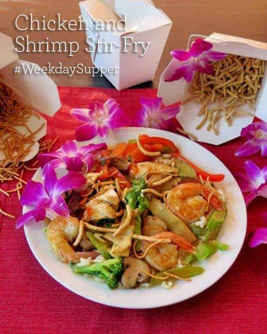Chicken and Shrimp Stir-Fry #WeekdaySupper
