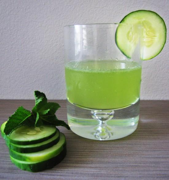 MInt Cucumber White Wine Fizz #SundaySupper
