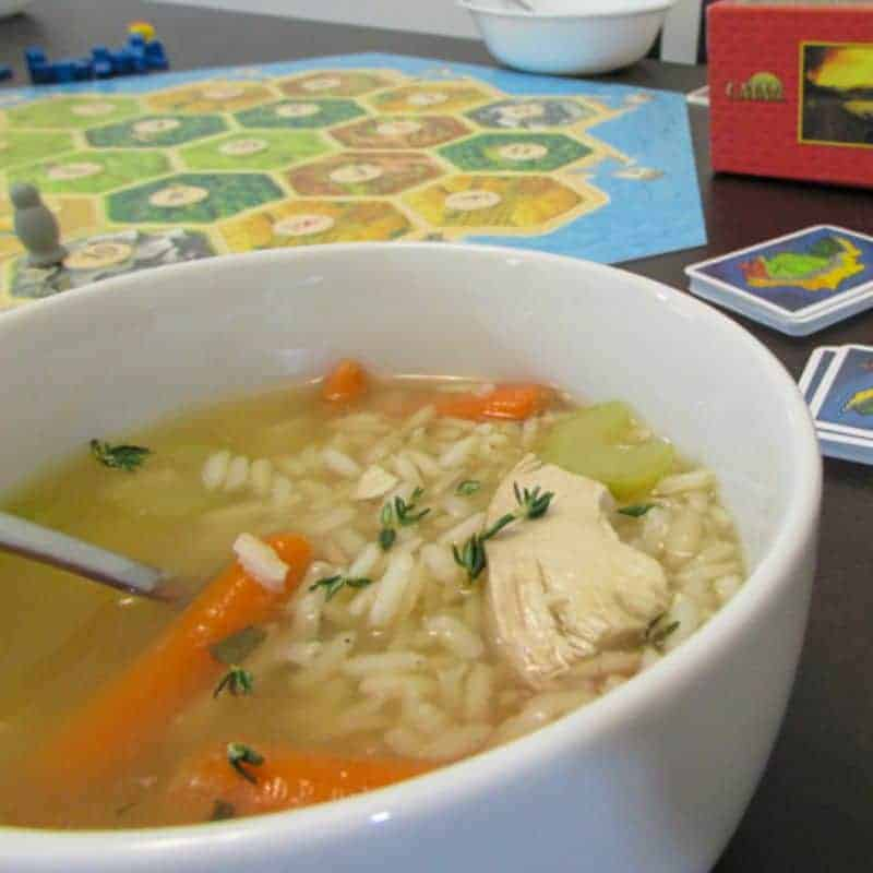 how to make chicken rice soup