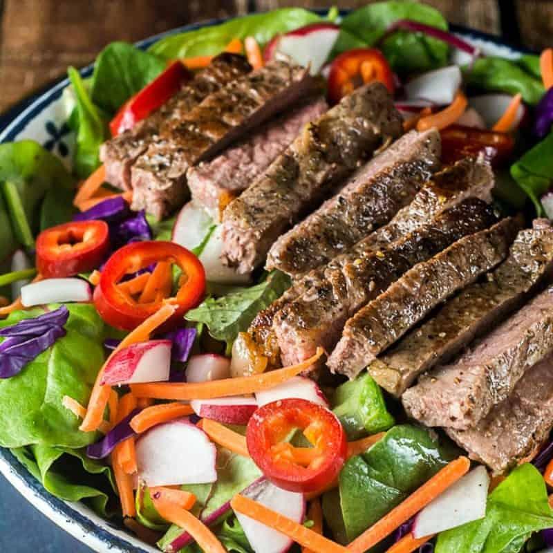 thai steak salad photo by flavor mosaic thai steak salad