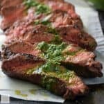 Pan-Seared Steak with Chimichurri #WeekdaySupper