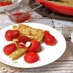 Whole Wheat German Pancake with Strawberries