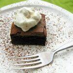Irish Cream Coffee Brownies with Spirited Whipped Cream