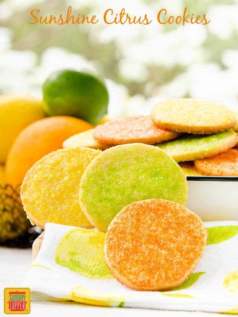 Sunshine Citrus Cookies are buttery, crispy, and flavored with fresh orange, lemon, and lime. The Cookie Jar   Sunday Supper Movement