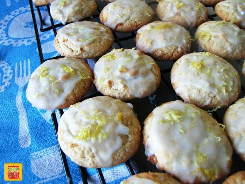 Glazed Lemon Cookies in the Cookie Jar - Sunday Supper Movement