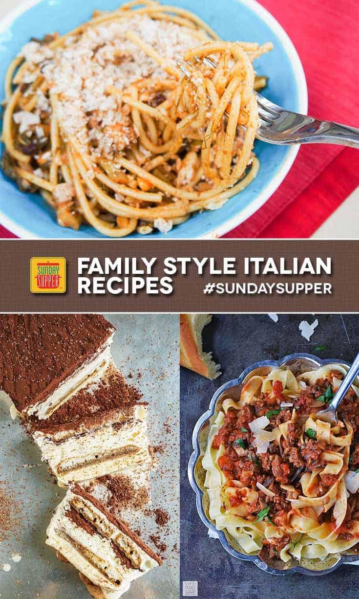 Family Style Italian Recipes #SundaySupper