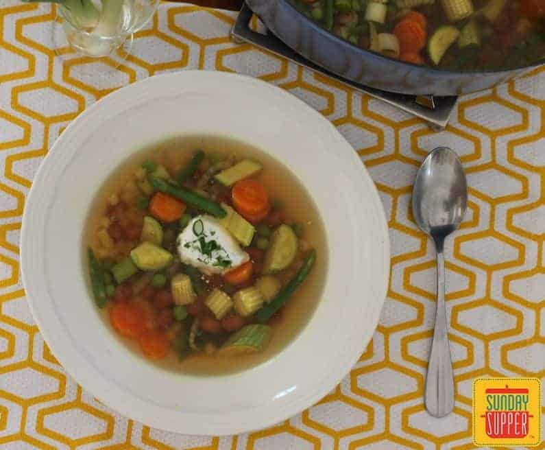 Spring Vegetable Minestrone #SundaySupper