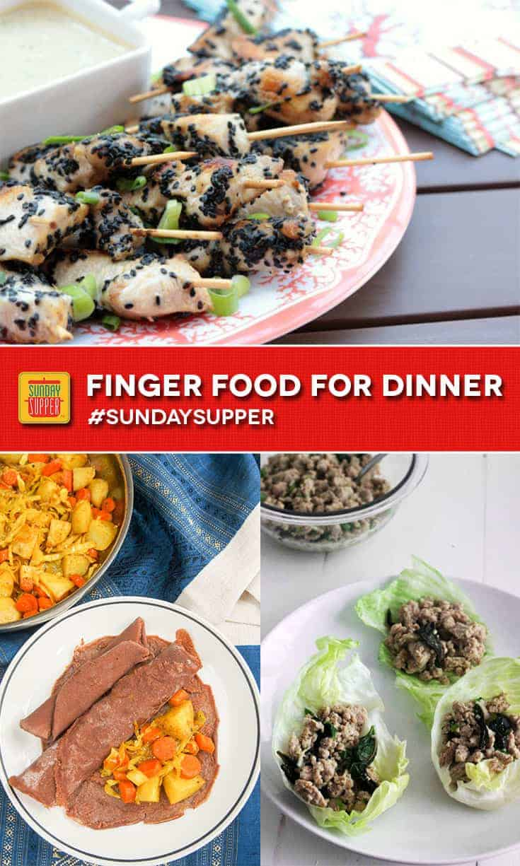 Easy Finger Food Dinner Recipes #SundaySupper