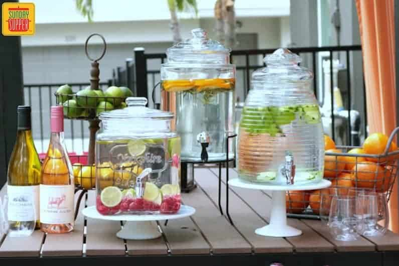 How To Creating A Beverage Station For Your Summer Party