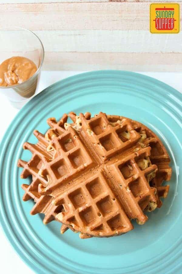 banana waffles #SundaySupper