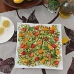 Grilled Zucchini Salad #SundaySupper