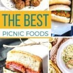 Save the Best Picnic Foods on Pinterest for later!
