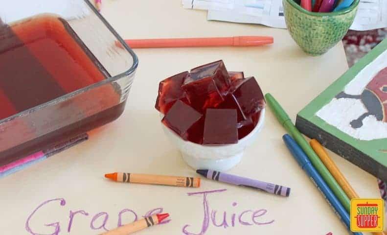 grape juice jigglers #SundaySupper
