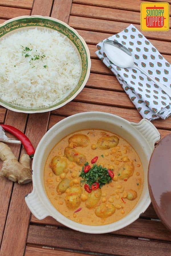 chickpea potato curry #SundaySupper