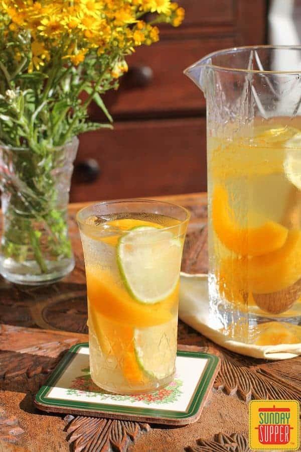 citrus peach sangria #SundaySupper
