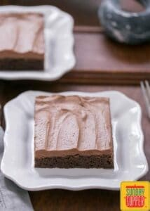 frosted cocoa brownies #SundaySupper