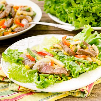 Garden Vegetable Steak Lettuce Wraps - Sunday Supper Movement