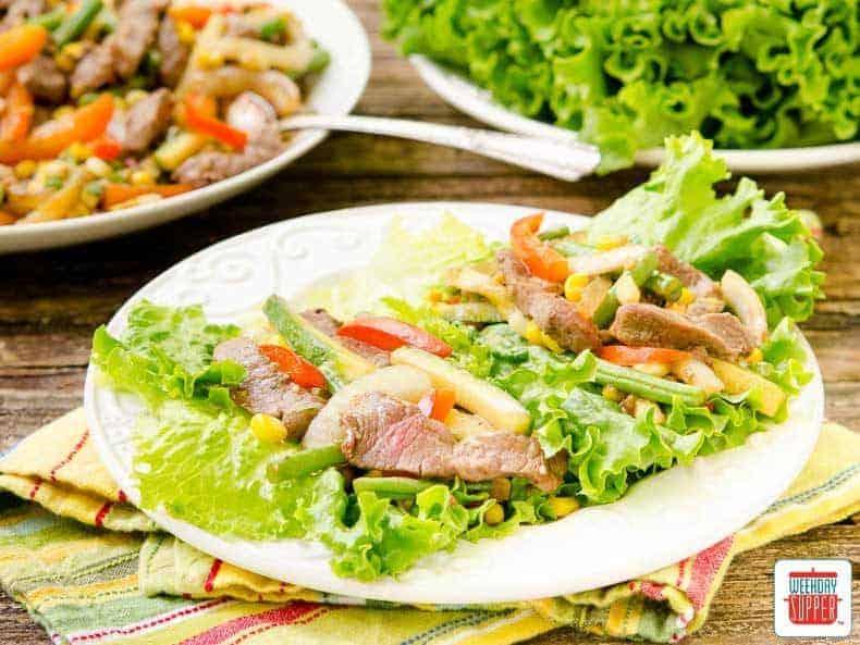 Garden Vegetable Steak Lettuce Wraps   #WeekdaySupper   Sunday Supper ...