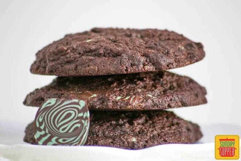 jumbo chocolate mint cookies #SundaySupper
