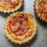 cheesy corn tomato tartlets #SundaySupper