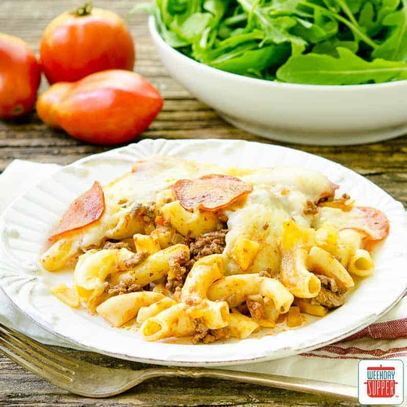 Pepperoni and Beef Pizza Casserole | Sunday Supper Movement