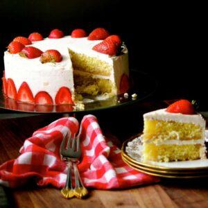 gluten free strawberry lemon cake #WeekdaySupper