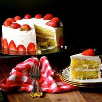 Strawberry Lemon Cake (Gluten-Free) #WeekdaySupper